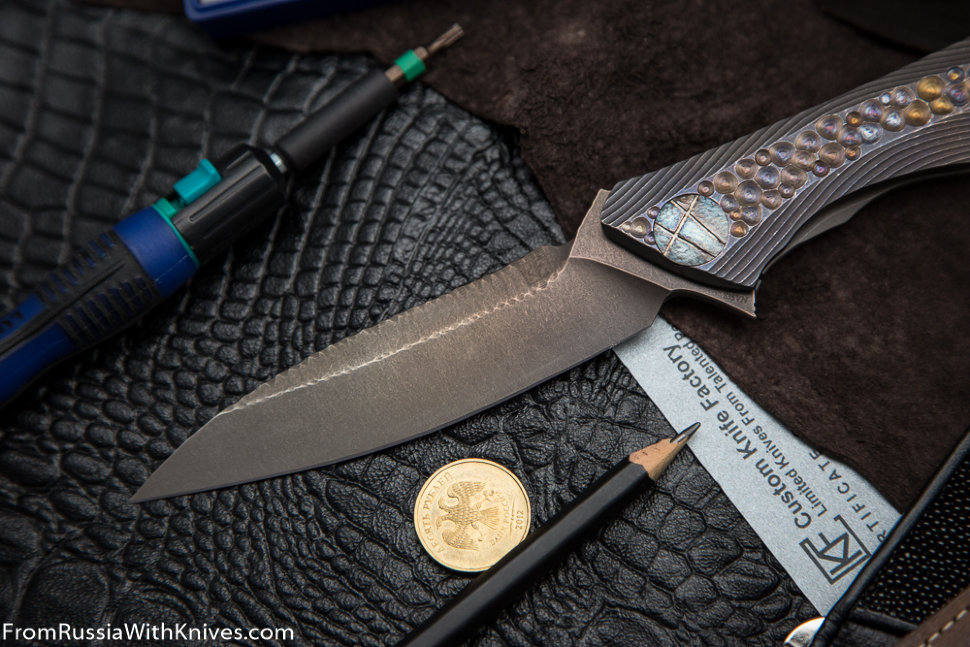Rabbit Knife customized #12 (Alexey Konygin design, s35vn, titanium, bearings)