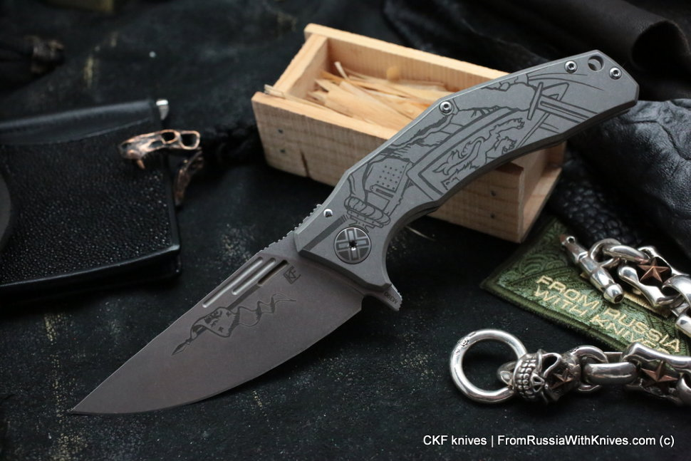 Customized Morrf Knife -KNIGHT BW-