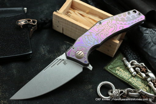 Customized Morrf Knife -MASK PURPLE-