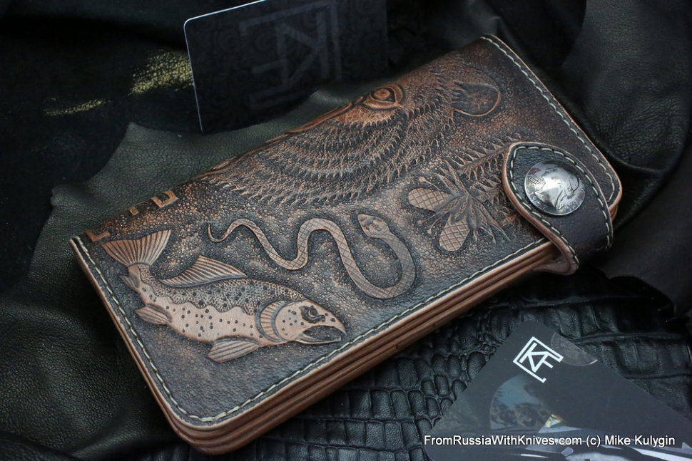 Custom Leather Clutch Wallet CKF MEDVED-L2-1