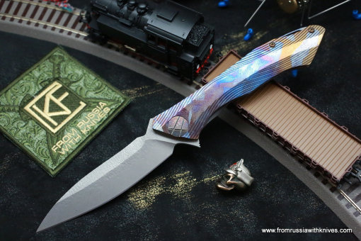 #25 Rabbit Knife customized (Alexey Konygin design, s35vn, titanium, bearings)