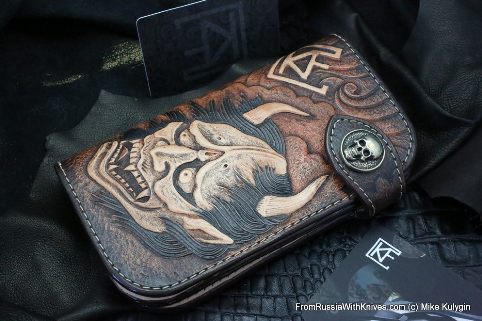 Custom Leather Clutch Wallet CKF UZHSNH