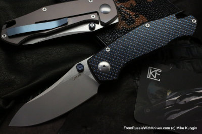 Farko knife (blue G10, M390, Ti, bearings)