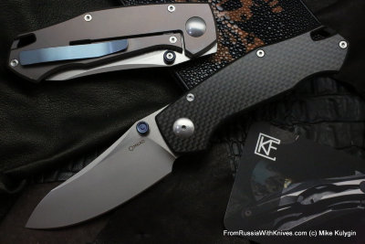 Farko knife (G10, M390, Ti, bearings)