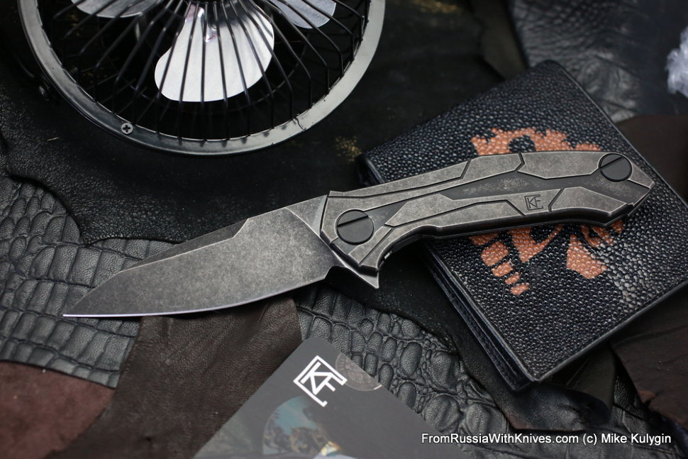 T92 knife (Alexey Konygin design, M390, titanium, bearings)